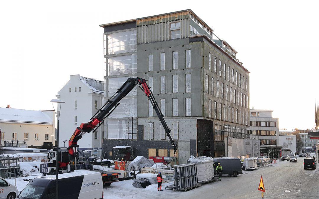 Pohjolan Osuuspankin pääkonttorin rakennustyöt käynnissä